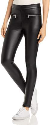 Bagatelle Faux-Leather Zipper Leggings
