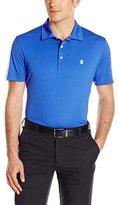 Izod Men's Short Sleeve Performer's Pieced Interlock and Mesh Golf Polo