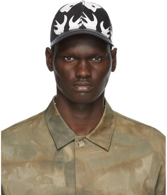 McQ Black and White Swallow Cap