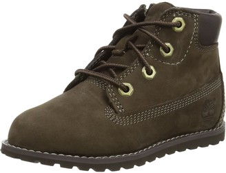 Timberland Pokey Pine 6In Boot with Side Zip Unisex Kids Ankle Boots Boot Yellow (Wheat) 7 UK Child (24 EU)