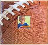 MCS MBI Sport and Hobby Postbound Album 12-Inch-by-12-Inch Page , 13.2 x 12.5 Album, Football Theme