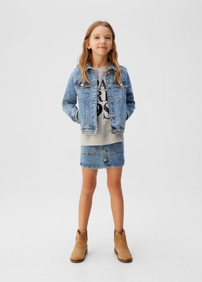 MANGO Denim cotton jacket