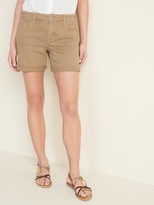 Old Navy Mid-Rise Tan-Color Jean Shorts for Women -- 5-inch inseam
