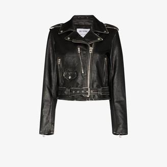 RE/DONE Moto leather bomber jacket