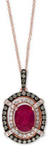 Effy Rosa by Ruby (1-1/2 ct. t.w.) and Diamond (1/3 ct. t.w.) Pendant Necklace in 14k Rose Gold