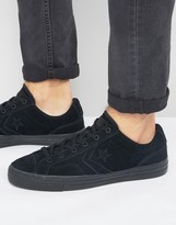 Converse Star Player Sneakers In Black 155405c
