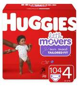 Huggies Little Movers 136-Pack Size 4 Mega Colossal Diapers