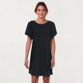 Lauren Conrad Women's Knit Flutter-Sleeve Dress