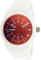 Diesel Armbar Black Dial Men's White Silicone Watch DZ1818