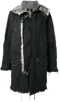 R 13 denim parka - women - Cotton - XS