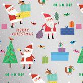 Fringe Whimsy Santa Gift Wrap