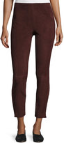 Vince Stretch-Suede Cropped Pants, Raisin