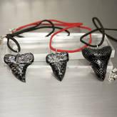 Design Studio Si-Q Carbon Fibre Sharks Tooth Pendant Necklace