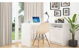 ZAnger L-Shape Writing Desk Orren Ellis Color: White