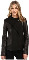 Vince Camuto Fitted Leather with Faux Suede Cascade Hood L8941
