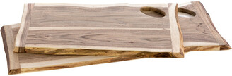 Shiraleah Set Of 2 Assorted Montana Live Edge Cutting Boards