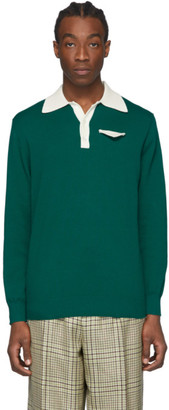 Casablanca Green Knit Polo