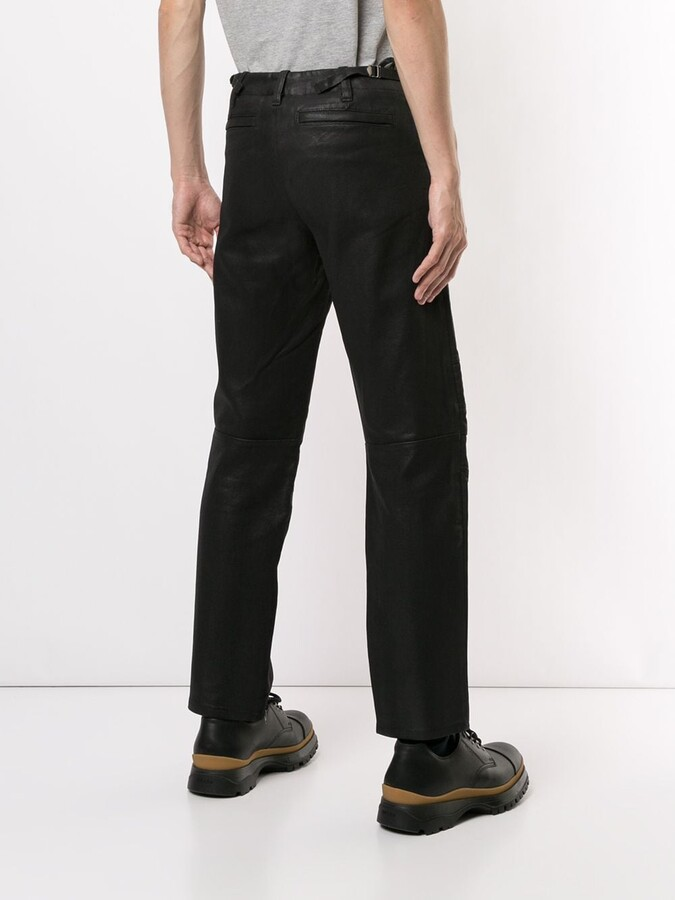 Thumbnail for your product : Helmut Lang Pre-Owned 1999 Quilted Artificial Leather Trousers