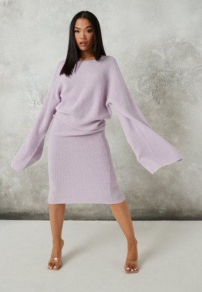 Missguided Tall Lilac Co Ord Knit Midaxi Skirt