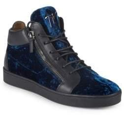 Giuseppe Zanotti Metallic Suede Sneakers