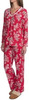 Carole Hochman Holiday Bouquet Cotton Pajamas - Long Sleeve (For Women)