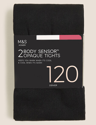 Marks and Spencer 2 Pair Pack 120 Denier Body Sensor Tights