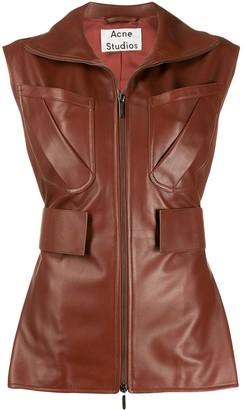 Acne Studios zip-up leather waistcoat