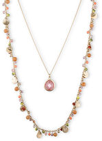 lonna & lilly Two-Row Mixed Bead and Pendant Necklace