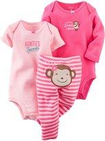 """Carter's Baby Girls' """"Little Sweet Heart"""" 3-Piece Set - pink"""