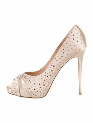 Valentino Crystal Embellishments Pumps Pink