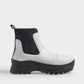 Stella McCartney Ankle Boots In White Eco-Leather