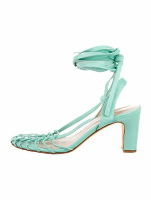 Maryam Nassir Zadeh Leather Sandals Green