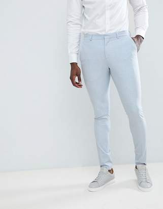 Selected Super Skinny Wedding Suit Trousers-Blue