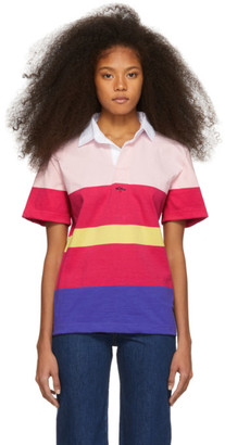 Noah NYC Pink and Purple Striped Eddie Polo