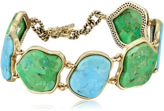 Barse Turquoise and Lime Turquoise Toggle Bracelet