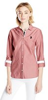 U.S. Polo Assn. Juniors' Long-Sleeve Solid Oxford Shirt