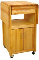 Catskill Craft Drop Leaf Cabinet Cart