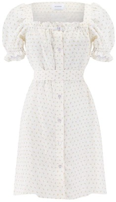 Sleeper Brigette Floral Linen Dress