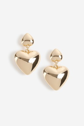 Topshop Freedom At Puff Heart Drop Earrings