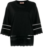Twin-Set Twin Set lace-trimmed T-shirt