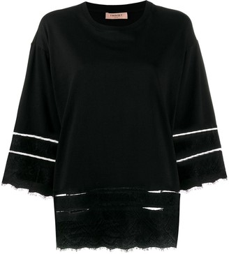 Twin-Set lace-trimmed T-shirt