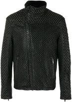 Emporio Armani perforated stud jacket