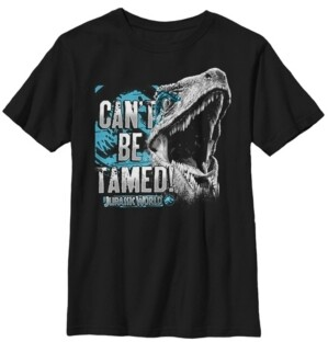 Fifth Sun Jurassic World Two Big Boy's Raptor Can't Be Tamed Short Sleeve T-Shirt