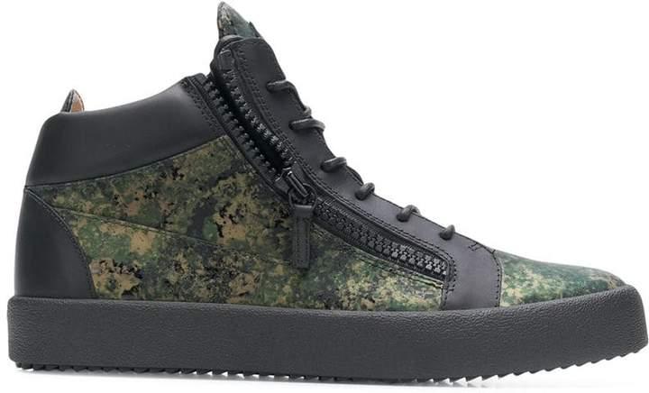 Giuseppe Zanotti Design camouflage print sneakers
