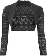 Thever Women Long Sleeve Knitted Crochet Shrug Bolero Cardigan Ladies Crop Top