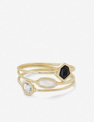 Kendra Scott Natalia rhodium-plated cuff bracelet