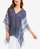 Vince Camuto TWO by Printed Poncho Top