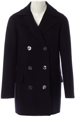 Christian Dior Navy Cashmere Coat for Women