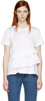 Marques Almeida White Gathered T-shirt
