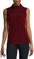 Liz Claiborne Sleeveless Turtleneck T-Shirt
